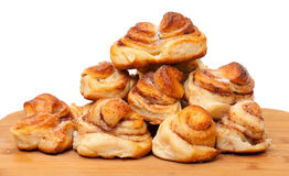 Fresh appetizing sweet rolls Royalty Free Stock Photography