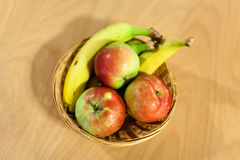 Fresh apple an banana Stock Photo