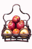 Fresh apple in a basket Royalty Free Stock Photo