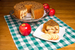 Fresh apple cake with red apples Stock Photography