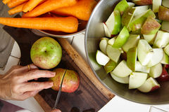 Fresh apple and carrot Stock Photo