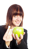 Fresh Apple or cigarette ? Royalty Free Stock Photography