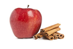 Fresh Apple and cinnamon Royalty Free Stock Images