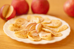 Fresh apple with cinnamon Royalty Free Stock Image