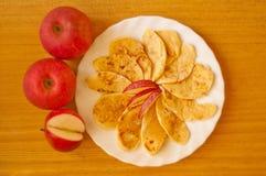 Fresh apple with cinnamon Stock Image