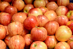 Fresh apple in city market Royalty Free Stock Photo