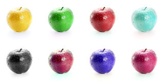 Fresh apple in colors Royalty Free Stock Images