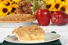 Fresh apple crisp pie Stock Images