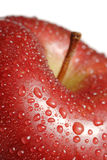 Fresh apple with dew drops Royalty Free Stock Photos