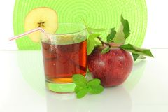 Fresh apple fruit and juice Stock Photography