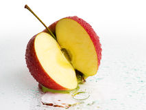 Fresh Apple Fruits with Water splash Stock Images