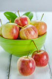 Fresh apple with green bowl Stock Images
