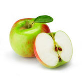 Fresh apple with half Royalty Free Stock Image