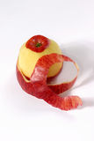 Fresh apple with its peel Royalty Free Stock Photo