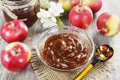 Fresh apple jam stock photos