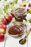 Fresh apple jam royalty free stock photos