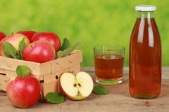 Fresh apple juice stock photo