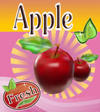 Fresh apple juice Banner Stock Photos