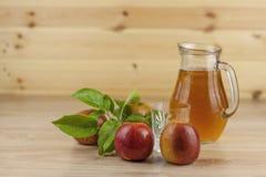 Fresh apple juice, cool summer refreshment, diet drink Stock Photos