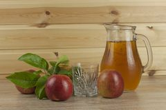 Fresh apple juice, cool summer refreshment, diet drink Stock Photo