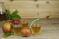 Fresh apple juice, cool summer refreshment, diet drink Stock Photo