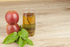 Fresh apple juice, cool summer refreshment, diet drink Royalty Free Stock Photo