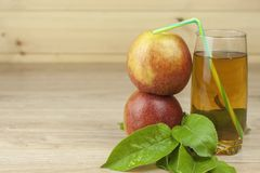 Fresh apple juice, cool summer refreshment, diet drink Stock Images
