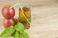 Fresh apple juice, cool summer refreshment, diet drink. With vitamins Stock Photo