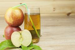 Fresh apple juice, cool summer refreshment, diet drink. With vitamins Royalty Free Stock Photo