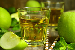 Fresh apple juice in a glass. Stock Images
