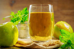 Fresh apple juice Stock Photos