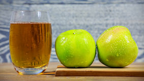 Fresh apple juice Royalty Free Stock Photos