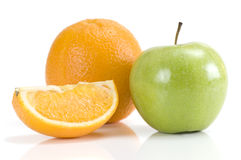 Fresh Apple and Orange Royalty Free Stock Image