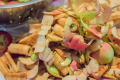 Fresh Apple Peels And Cores Stock Photo