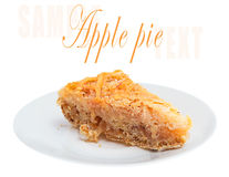 Fresh apple pie on a white plate Stock Photo