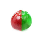 Fresh apple with red and green half Royalty Free Stock Photos