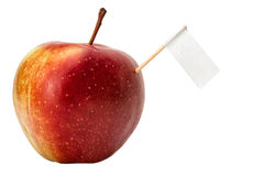 Fresh apple with a sign. In high resolution royalty free stock photography