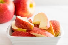 Fresh apple sliced Royalty Free Stock Images