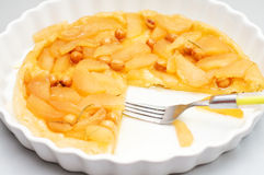 Fresh apple tart tatin Royalty Free Stock Photos