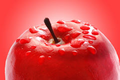 Fresh apple with water drops Stock Photos