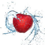 Fresh apple with water splash Royalty Free Stock Photo