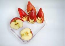 Fresh apple on white background stock photo