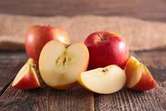 Fresh apple on wood Royalty Free Stock Image
