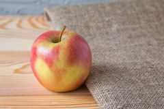 Fresh apple on a wooden table stock photos