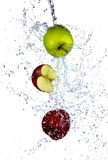 Fresh apples. With water splash, isolated on white background Royalty Free Stock Photography