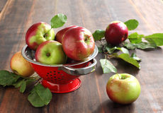 Fresh apples. On the table Royalty Free Stock Photo