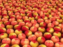 Fresh apples background 3d. Render vector illustration
