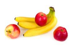 Fresh apples and bananas Royalty Free Stock Photography