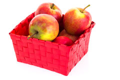 Fresh apples in a basket Stock Images
