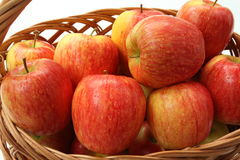 Fresh apples in basket Stock Image